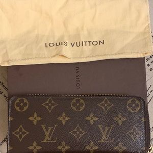 Authentic Louis Vuitton clemence wallet monogram